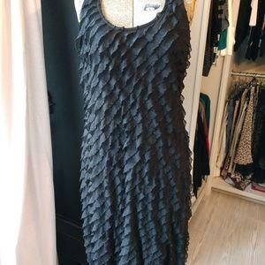 NWT Elementz Ruffled Tier Sleeveless Dress LBD